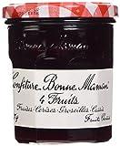 Bonne-Maman Confiture 4 Fruits Cerises Fraises groseilles Framboises le Pot de 370 g - Lot de 3