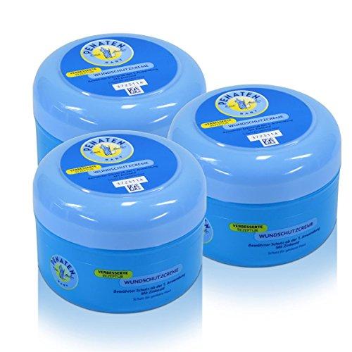 3x Penaten Baby Wundschutz Creme mit Zinkoxid 200 ml