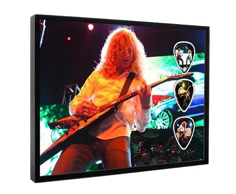 Dave Mustaine Megadeth (DW) Live Performance Encadre Framed Guitare Mediator Pick Display