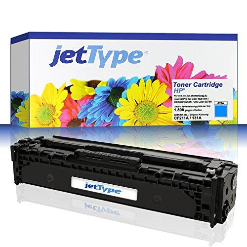 t HP 131A / CF211A für LaserJet Pro 200 Color M251NW / 200 Color M251N / 200 Color M276N / 200 Color M275NW, cyan, 1.800 Seiten ()