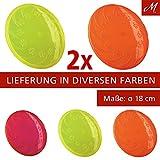 2x Trixie Dog Disc Frisbee, TPR, schwimmt - 18 cm, diverse Farben
