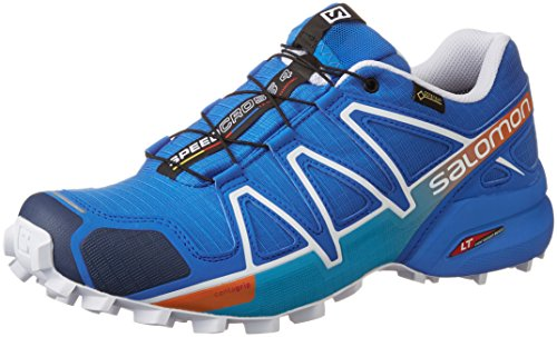 Salomon L39072200, Zapatillas de Trail Running para Hombre, Azul (Bright Blue / Union Blue / White), 43 1/3 EU