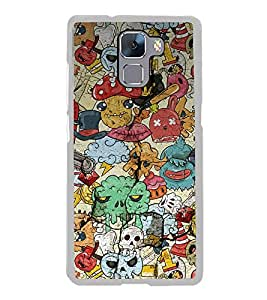 Cartoon Pattern 2D Hard Polycarbonate Designer Back Case Cover for Huawei Honor 7 :: Huawei Honor 7 Enhanced Edition :: Huawei Honor 7 Dual SIM