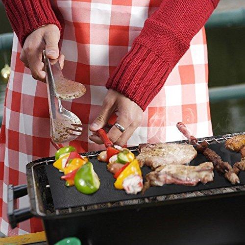 51LAGl7Oo0L - Da.Wa BBQ Grill Mat - 1 Stück Non Stick Grill Mats - Essential Grillen Zubehör und BBQ Tools.