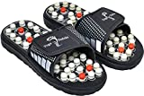 Taxton Spring Acupressure & Magnetic Therapy Yoga Paduka Slippers For Full Body Massage Blood Circulation & Leg Foot Massager (8, Black)