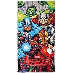 Avengers Toalla de playa para niños, 100% algodón, 70 x 140 cm
