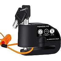 YOHOOLYO Candado Disco Moto con Alarma 6mm 110DB Antirrobo Alarma Moto con Cable Enrollado 1.2M