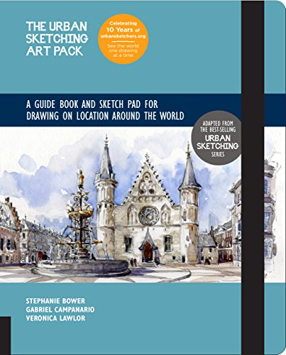 The Urban Sketching Art Pack: A Guide Book and Sketch Pad for Drawing on Location Around the World-Includes a 112-page paperback book plus 112-page sketchpad -