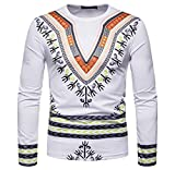 Luckycat Herren Herbst Winter afrikanischen 3D Print Langarm Dashiki O-Neck Sweatshirt Top Mode 2018