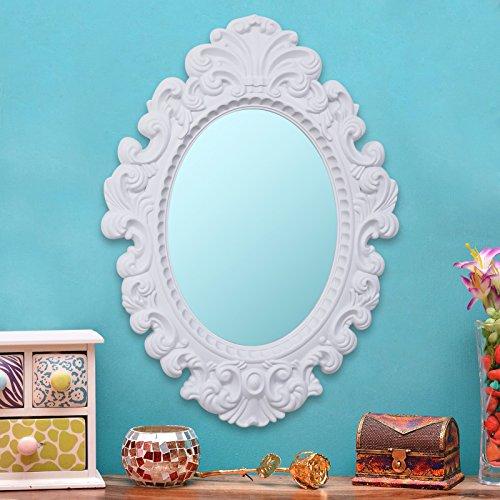 Kurtzy Vintage Style Home Decorative Elliptical Shape Vanity Wall Mirror Glass for Living Bathroom Bedroom