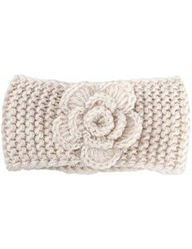 JERFER Kinder Mädchen Winter Warm Gestrickt Stirnbänder Crochet Strick Haarband Turban Stirnband Ear Wärmer