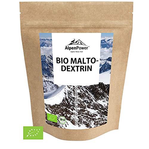 ALPENPOWER | BIO MALTODEXTRIN | Hochwertiges Kohlenhydratgemisch | Feines Pulver | Ideal für Kraft - und Ausdauersport | 100% reines Maltodextrin 19 | Organic Maltodextrin | 1000 g