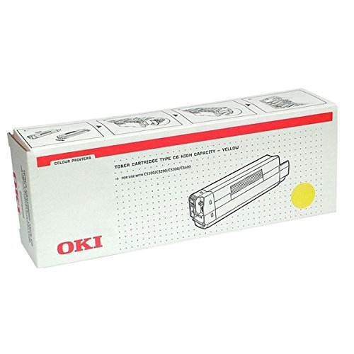 Preisvergleich Produktbild OKI 42127405 C5100, C5200, C5300, C5400 Tonerkartusche 5.000 Seiten, gelb
