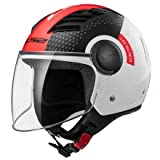 LS2 Casque moto of562 Airflow Condor, blanc/noir/rouge, S