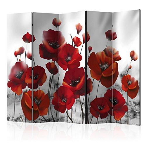 murando Paravent XXL: 225x172 cm Réversible Deux Côtés Impression sur Toile intissée 100% Opaque Foto Paravent décoratif en Bois avec Interieur Impression b-A-0334-z-c