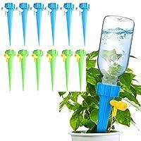 مخارز سقاية ذاتية، مياه نباتية، أجهزة سقاية نباتية، لمبات مياه أتوماتيكية عند الإجازات للقطر، نظام كروبز ستاكس مع صمام تحكم في سرعة إطلاق بطيء للنباتات بوعاء 12 قطعة