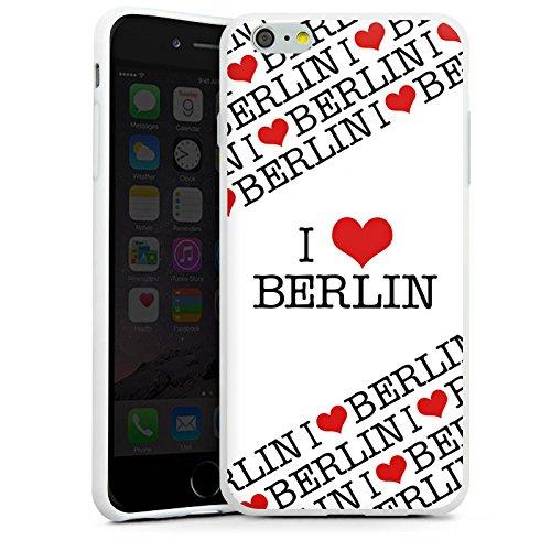 Apple iPhone X Silikon Hülle Case Schutzhülle Berlin Love Statement Silikon Case weiß
