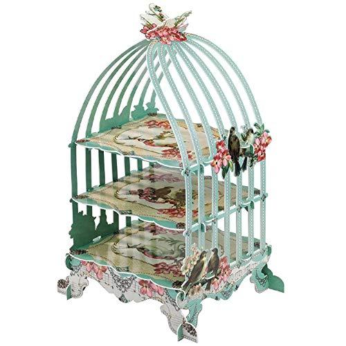 Rack 3 Schichten Birdcage Cupcake Karton Tortenständer Nachmittagstee Vintage Hochzeit Display Halter ()