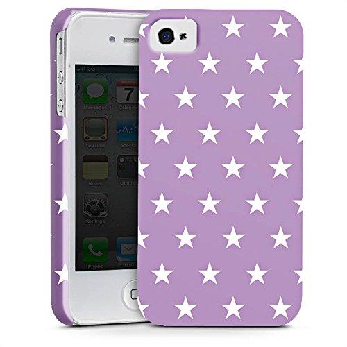 Apple iPhone X Silikon Hülle Case Schutzhülle Sterne Polka Flieder Premium Case glänzend
