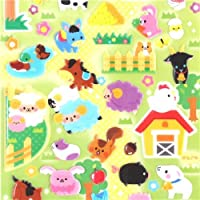 Q-Lia puffy glitter stickers, with hard stickers of sheep, goats, cows, rabbits etc.