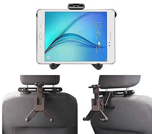 Navitech Schwarze Tablet PC Auto Kopfstützen / Rücksitz Erweiterbare Feste Griff Montierung Für Das Chromo Inc 7