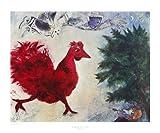 Marc Chagall Poster Kunstdruck Bild Der rote Hahn 65x78cm