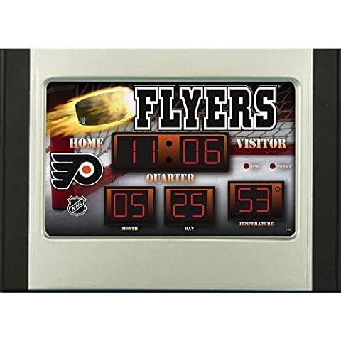 NHL Philadelphia Flyers Scoreboard Desk Clock by Team Sports America