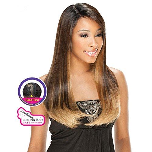 Freetress Égal Yuliya - Secouer N Go Égalisée Lace Front Profond Invisible L Part Perruque Cheveux Synthétique - OH2730613