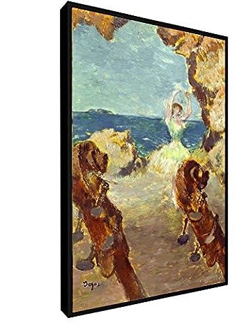 Edgar Degas - Balletttänzerin - 1891 - 40x60 cm - Leinwandbild mit Schattenfugenrahmen - Wand-Bild - Kunst, Gemälde, Foto, Bild auf Leinwand mit Rahmen - Alte Meister / Museum