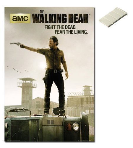 bundle-2-items-the-walking-dead-season-3-poster-915-x-61cms-36-x-24-inches-and-small-block-of-white-