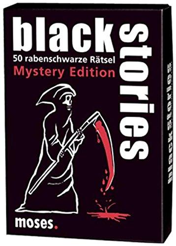 Moses. black stories Mystery Edition | 50 rabenschwarze Rätsel | Das Krimi Kartenspiel