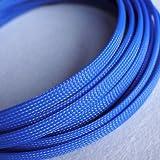 5m 8mm Expansion geflochtenem Kabel Draht Kunststoffummantelung Sleeve sleeven Hundegeschirr, blau