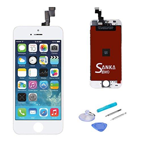 SANKA Display iPhone SE Lcd Bildschirm Touchscreen Ersatz komplett vormontiert Weiß (4.0'') 4 Lcd-bildschirm-ersatz