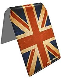 Stray Decor (Vintage Union Jack) Étui à Cartes / Porte-Cartes pour Titres de Transport, Passe d'autobus, Cartes de Crédit, Navigo Pass, Passe Navigo et Moneo