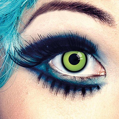 aricona Farblinsen hellgrüne Kontaktlinsen ohne Stärke weiche grüne (Yoda Up Make Kostüm)