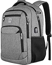 Backpack men, school backpack boys with USB charging port, laptop backpack 15,6 inches for work travel school men Oxford 30-45L