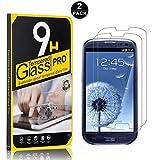 Bear Village Galaxy S3 Vetro Temperato, Nessuna Bolla, 3D Touch Compatible[0.26mm HD Alta Trasparenza] Pellicola Protettiva in Vetro Temperato per Samsung Galaxy S3-2 pezzi
