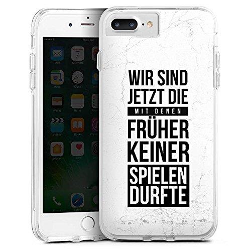 DeinDesign Apple iPhone 7 Plus Bumper Hülle Transparent Bumper Case Schutzhülle Humor Fun Sayings