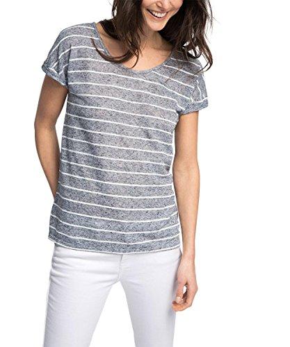 edc by ESPRIT Damen T-Shirt mit Rückendetail Mehrfarbig(NAVY 400)