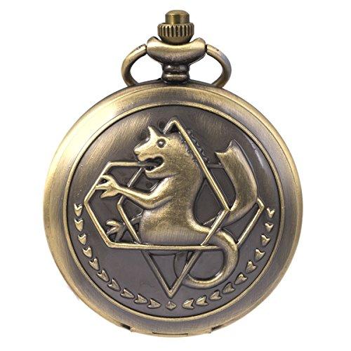 (FullMetal Alchemist Edward Elric Anime SIBOSUN Bronze Taschenuhr mit Ketten cadeau)