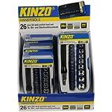 Kinzo 29609 Set Tournevis avec douilles et embouts 26 pièces