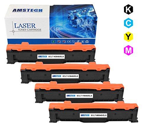 Preisvergleich Produktbild Amstech kompatibel Tonerkartusche fuer Samsung CLT-K/C/M/Y504S/ELS ( 1 CLT-K504S/ELS Schwarz ,1 CLT-C504S/ELS Cyan ,1 CLT-M504S/ELS Magenta, 1 CLT-Y504S/ELS Gelb ), 4 Packs, KMCY