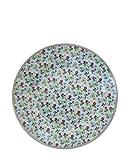 Krasilnikoff HP119 Desserteller/Kuchenteller / Frühstücksteller - Porzellan - Hellblau - Bunte Blumen - Ø 20 cm