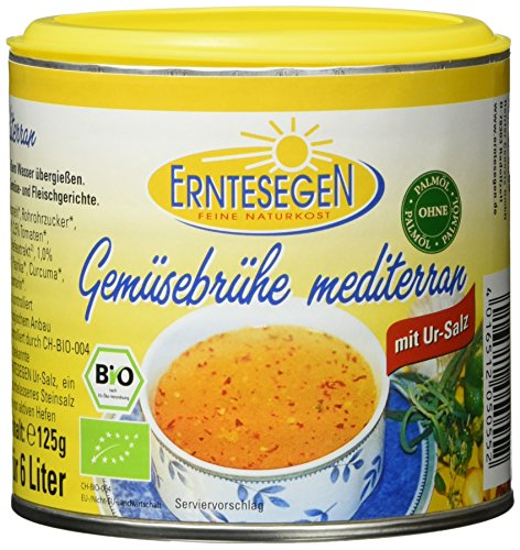 Erntesegen Gemüsebrühe -mediterran- 125 g Bio Würz-Sauce, 6er Pack (6 x 125 g)