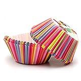 Cikuso Papier Fuer Kuchen Tasse Cupcake Case Liner Muffin Kueche Backen Hochzeitsfeier - 50pcs Regenbogen Farbe