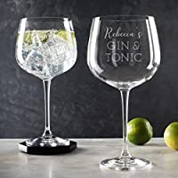 Personalised Gin Glass For Women/Gin Lovers Gifts For Women/Engraved Gin Balloon Glass Personalised/Gin Related Gifts/Copa De Balon Glass
