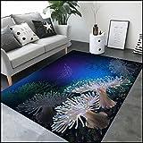 WXDD Reales Leben 3D visueller Teppich, Unterseebootweltlebewesenmatte, Kinderschlafzimmerwohnzimmer dünn Antiskidauflage, 140x200cm Matratze, Ozean 7