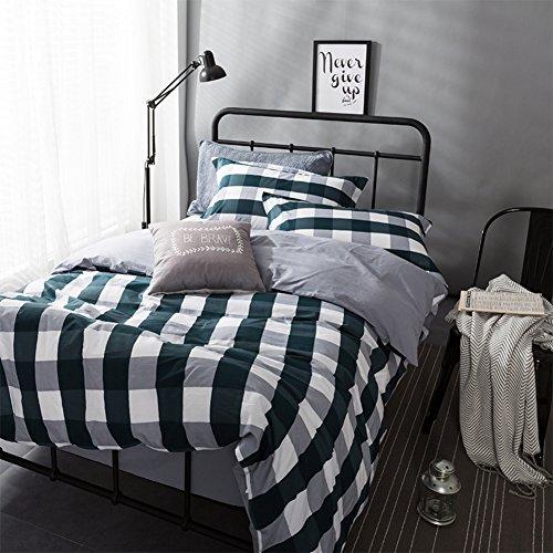 Aik@ Haushalt Bettbezug Setzt 4 Psc BaumwolleTwin-königin Voll King Single Doppelbett Blatt Quilt Cover Kissenbezug Kissen Shams-O King(220x240cm)