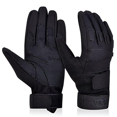 Vbiger Outdoor Sport Fahrradhandschuhe Mountainbike Handschuhe Motorradhandschuhe (Schwarz, XL)