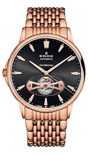 EDOX 85021 37RM NIR - Reloj de pulsera hombre, acero inoxidable, color Oro Rosa
